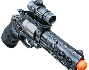 WHOLESALE Steampunk TOY gun toy pistol laser LIGHT Victorian Halloween costume cosplay prop theatre Zombie man silver tone