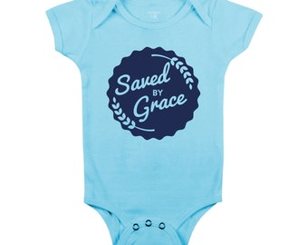 Saved by Grace (Baby Onesie)
