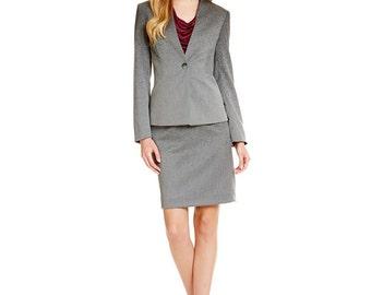 Antonio Melani Madalyn Deedee Ombre Suit Jacket and Skirt Sz 4, 8