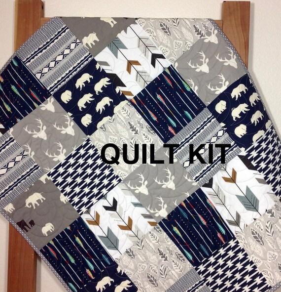 Woodland Quilt Kit Baby Boy Quilt Kit Woodland Nursery
