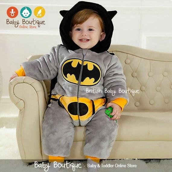 0c34e285f95b I Found It On ETSY  Cute Batman Warm Winter Fleece Baby Boy Bodysuit ...