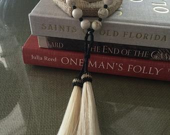 Double Horsehair Tassel Necklace
