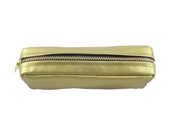 Beverley metallic pouch pencil case gold