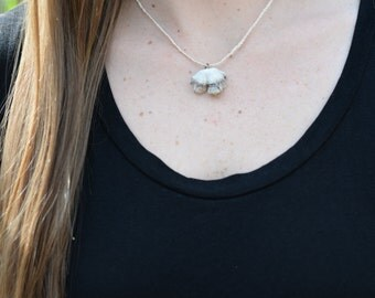 Small White Fungus Necklace