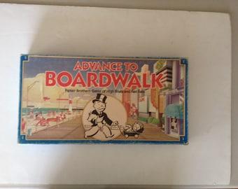 Vintage 1985 advance to boardwalk game