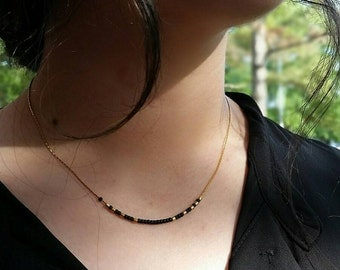 Dainty Beaded necklace, Multiple colors available