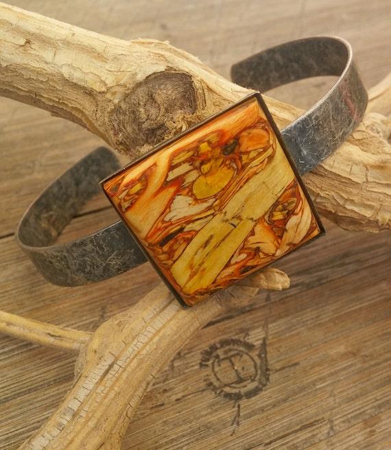 Antique Silver Tumbleweed Cuff Bracelet