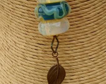 Handmade borosilicate glass bead neckace