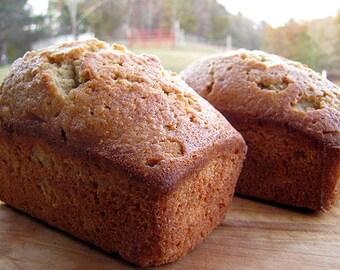 Apple Brandy Cornmeal Pound Cake Breakfast Bread