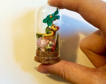 Miniature found object terrarium