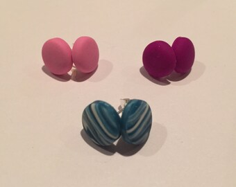 Adorable circle stud post earrings! Bridesmaid, wedding, everyday! Great gifts