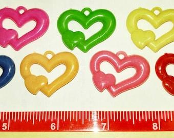 5 Heart pendants