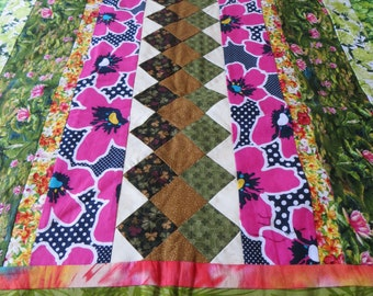 Homemade Lap Quilt: MEADOWLAND
