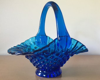 Unique Fenton Glass Basket Related Items Etsy