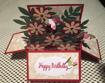 Handmade Birthday card in a box