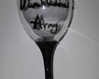 Dumbledores army wine glass