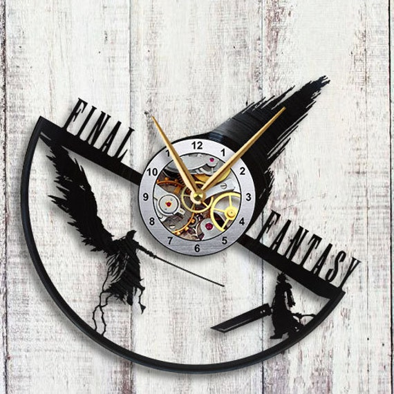 Final Fantasy 7 Sephiroth Vs Cloud Vinyl Lp Record Wall Clock