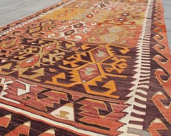 Bohemian kilim rug, kilim, home decor, decorative kilim rug, handwoven kilim rug  10x5 ft