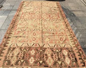 Kilim rug vintage kilim rug 11x6 ft