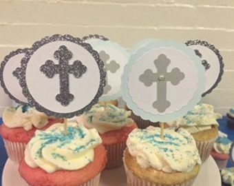 Baptism Cupcake Toppers - Set of 20