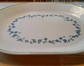 Corelle SET OF 2 Forget Me Not Oval serving platters