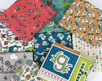 ORGANIC COTTON Fabric - Picnic Whimsy by Rebekah Ginda for Birch Fabrics - COMPLETE Fat Quarter Bundle Collection