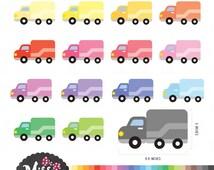 30 Colors Envelopes Clipart - Instant Download