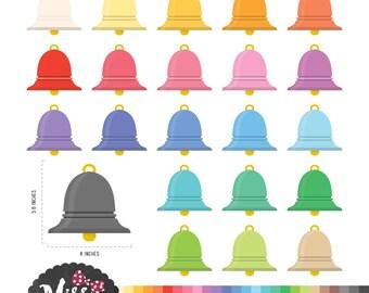 26 Colors Bells Clipart - Instant Download