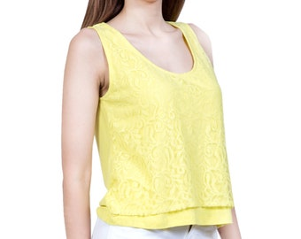 Urban Religion Yellow Short Top XXS,XS,S,M,L,XL, for girls/womens