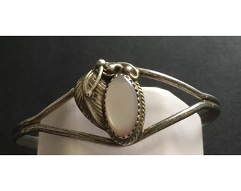 Mother of Pear Sterling Silver Cuff Bracelet