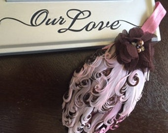 Boutique feather headband