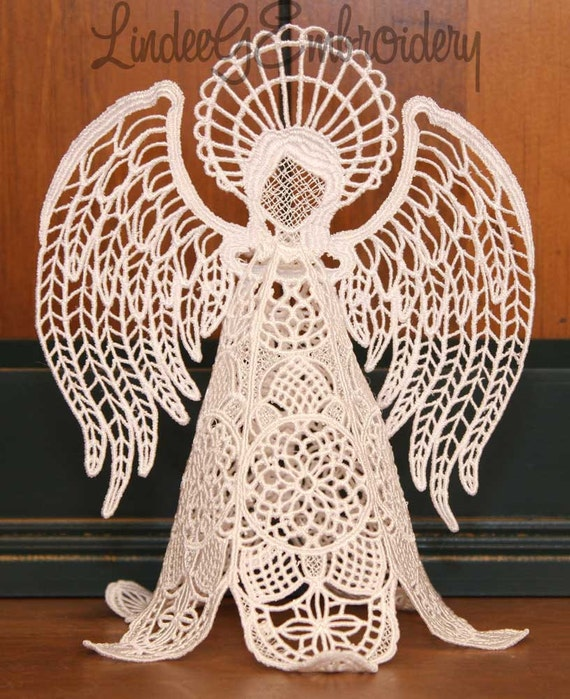Machine Embroidery Design Free Standing Lace Heirloom Angel