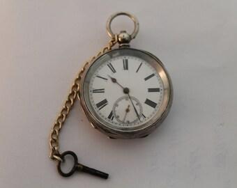 Vintage english silver pocket watch