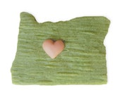FOR AMANDA Heart Central Oregon || Hand-sculpted Soap ||  Made With Love In Bend || State-Shaped Soap