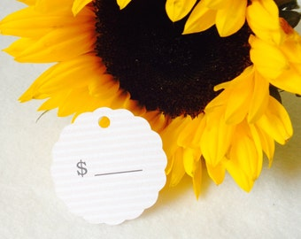 RETRO PRICE TAGS, Shop tags, Unique Paper tags, round shaped tags, handmade paper tags, all currencies available, shops supplies