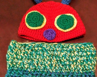 Hungry Caterpillar Baby Blanket, baby, blanket, hungry, caterpillar, cocoon, green, red, blue, yellow, character