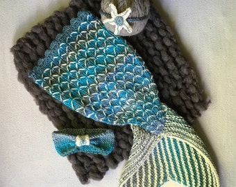Mermaid tail pattern Etsy