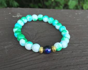 Multicolor beaded bracelet