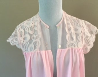SALE! S / 1950's Pink Robe SMALL