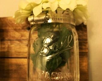 Mason Jar Wall Vases