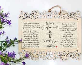 Godparents gift, Godparent gift, Godmother gift, Christening gift, Godfather gift, Gift for godparents, Christening gift-Baptism gift