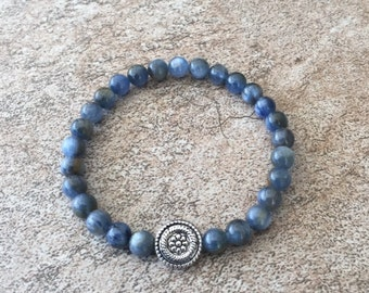 Blue Kyanite Bracelet, 6mm