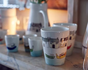 Bobbing Boats and Cottages Beakers
