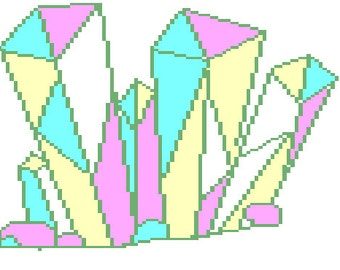 Pixel crystal pdf cross stitch pattern
