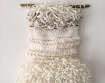 Woven wall hanging loop