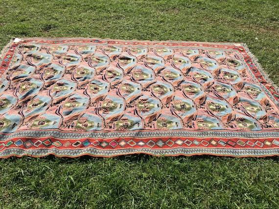 Vintage persian kilim rug unique weave design kelim - Ways decorating using kilim print ...
