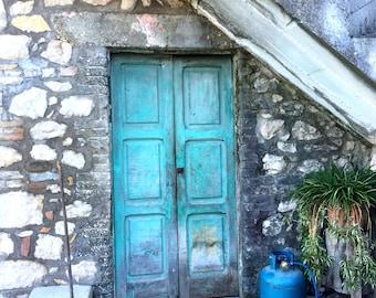 Turquoise Door Photo Rustic House Rustic Photo