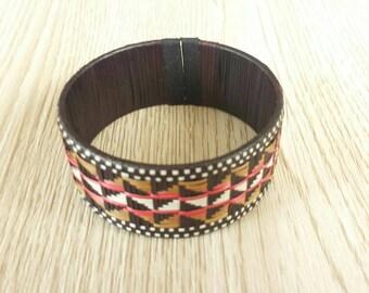 Handmade  Colombian woven cuff  bracelet