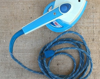 Vintage Iron, Travel Iron, Sunbeam, Sunbeam Today, Travel Steamer, Blue, Collectible, Mid Century, Antique, Laundry Room