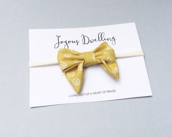 Evelyn Bow in Mustard Ladybug